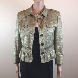 Gorgeous Burberry London metallic jacket, Size 6